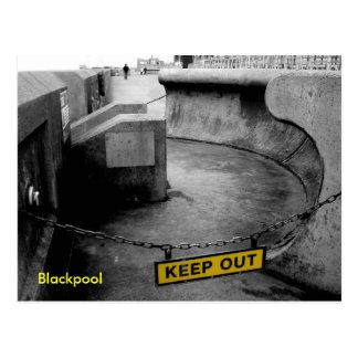 Empêchez d'entrer - Blackpool Carte Postale