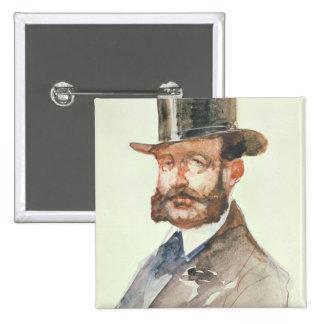Empereur Alexandre II aux courses Badge Carré 5 Cm