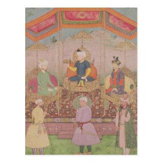 Empereur Babur de Mughal et son fils, Humayan Carte Postale