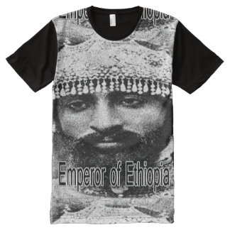Empereur de l'Ethiopie T-shirt Tout Imprimé
