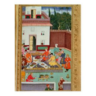 Empereur de Mughal se régalant dans une cour Carte Postale