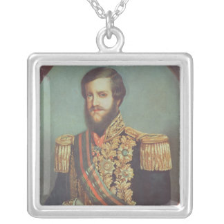 Empereur de Pedro II du Brésil Pendentif Carré