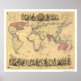 Empire Britannique dans le monde entier 1855 Posters