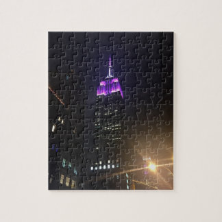 Empire State Building pourpre NYC New York City Puzzle