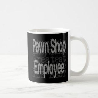 Employé de boutique de prêteur sur gages mug