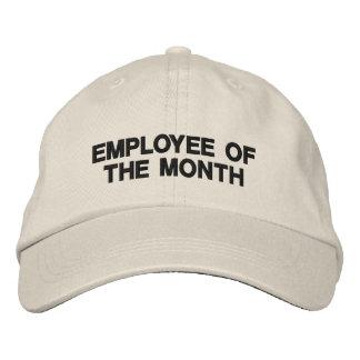 Employé promotionnel de vente d'affaires des casquette brodée