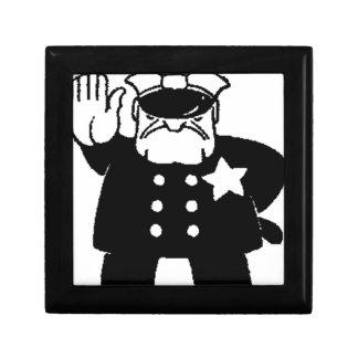 employé sans visage de la loi petite boîte à bijoux carrée