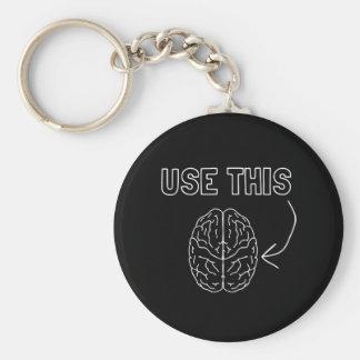 Employez ce cerveau porte-clé rond