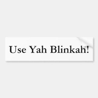 Employez l'adhésif pour pare-chocs de Yah Blinkah Autocollant Pour Voiture