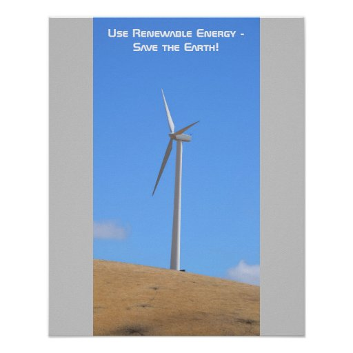 Employez l'affiche d'énergie renouvelable