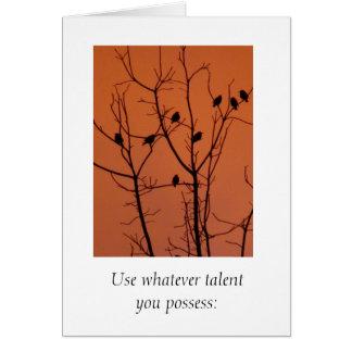 Employez quelque talent vous possédiez cartes