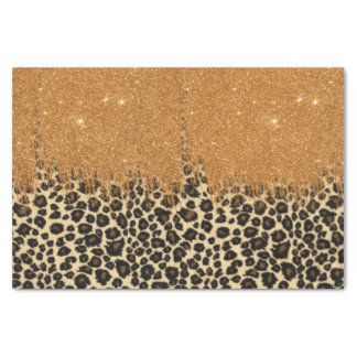 Empreinte de léopard avec la course de brosse de papier mousseline