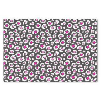 Empreinte de léopard blanc et noir rose Girly Papier Mousseline