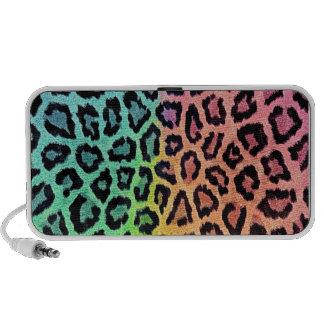empreinte de léopard d'arc-en-ciel haut-parleurs iPod