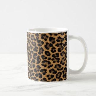 empreinte de léopard de faux mug