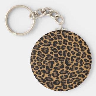 empreinte de léopard de faux porte-clés
