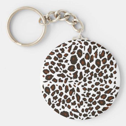 Empreinte de léopard de neige porte-clés