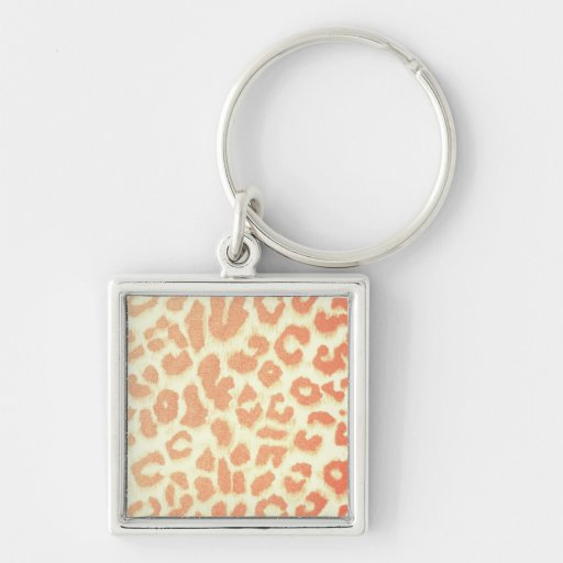 Empreinte de léopard de pêche porte-clefs