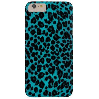 Empreinte de léopard de turquoise coque iPhone 6 plus barely there