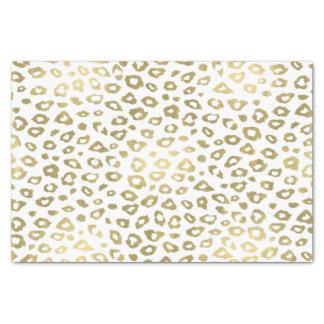 Empreinte de léopard d'Ombre d'or Papier Mousseline