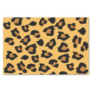 Empreinte de léopard en papier de soie de soie