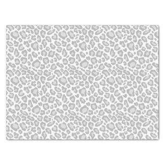 Empreinte de léopard gris papier mousseline
