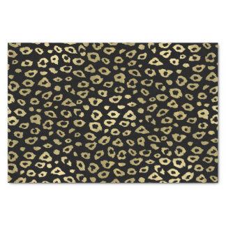 Empreinte de léopard noir d'Ombre d'or Papier Mousseline