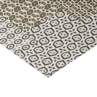 Empreinte de léopard papier mousseline