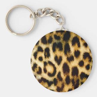 Empreinte de léopard porte-clé rond