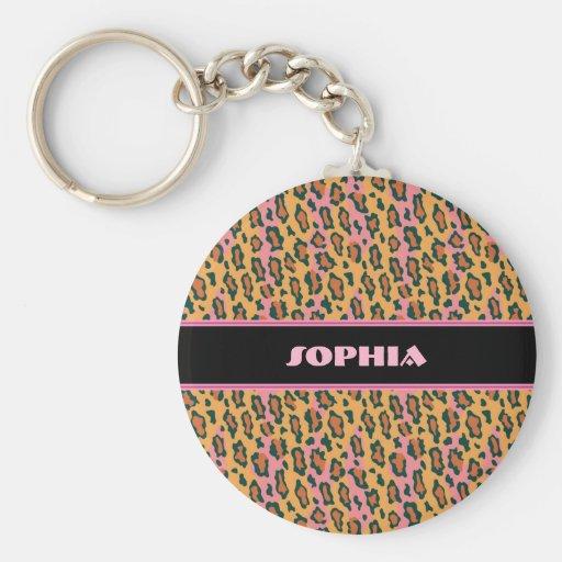 Empreinte de léopard porte-clés