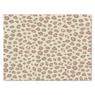 Empreinte de léopard rose et crème papier mousseline