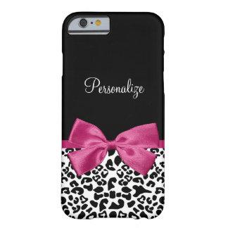 Empreinte de léopard rose foncé vivace de mode de coque iPhone 6 slim