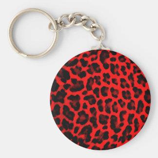 Empreinte de léopard rouge porte-clés