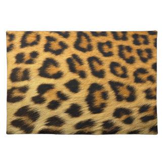Empreinte de léopard sets de table