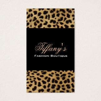 empreinte de léopard tribal d'animal de safari de cartes de visite