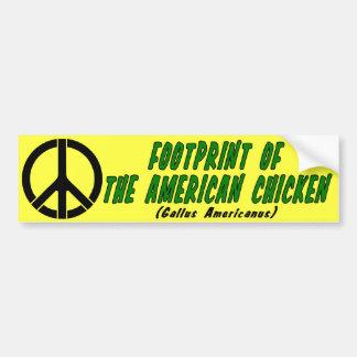 Empreinte de pas du poulet américain autocollant pour voiture