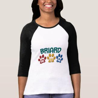 Empreinte de patte 1 de MAMAN de BRIARD T-shirt