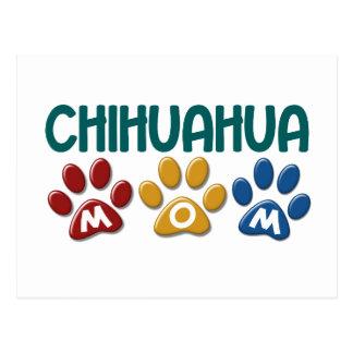 Empreinte de patte 1 de maman de CHIWAWA Carte Postale