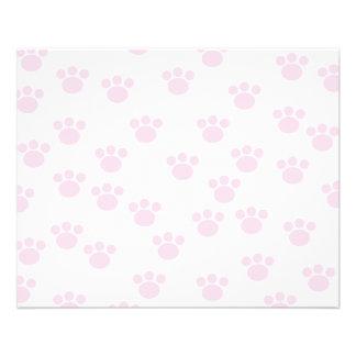 Empreinte de patte animal. Modèle rose-clair et bl Prospectus 11,4 Cm X 14,2 Cm