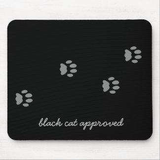 Empreinte de patte approuvé Mousepad de chat noir Tapis De Souris