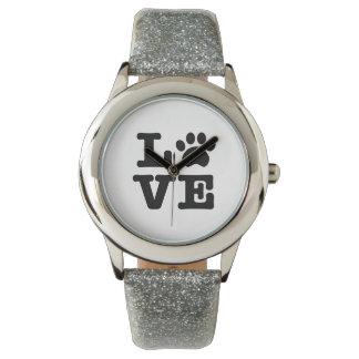 Empreinte de patte d'amour montres bracelet