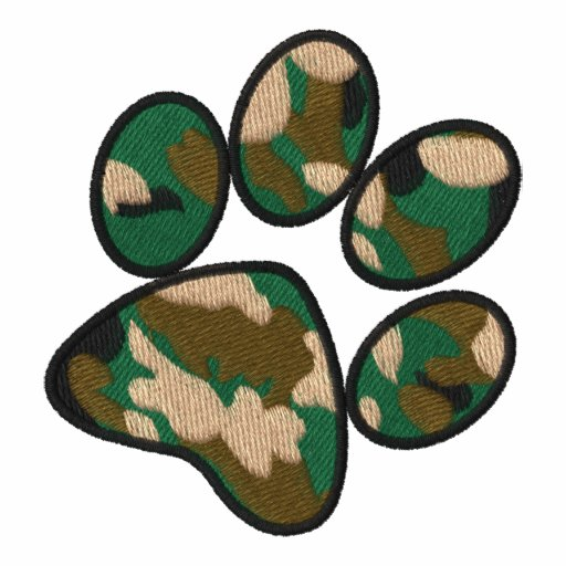 Empreinte de patte de camouflage