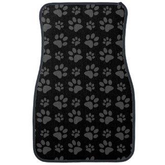 Empreinte de patte de chien noir tapis de voiture