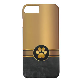 Empreinte de patte de thème de chien coque iPhone 7