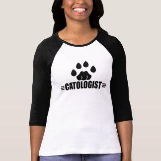 Empreinte de patte humoristique de chat t-shirt