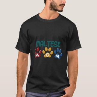 Empreinte de patte MALTAIS 1 de maman T-shirt