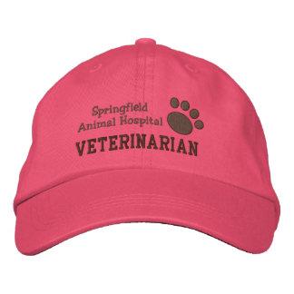 Empreinte de patte vétérinaire de clinique casquette brodée