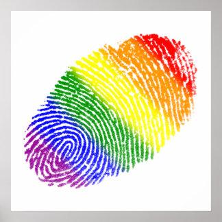 Empreinte digitale de LGBT Poster