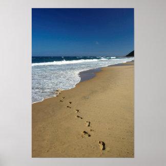 Empreintes de pas sur la plage, Mabibi, Thongaland Poster