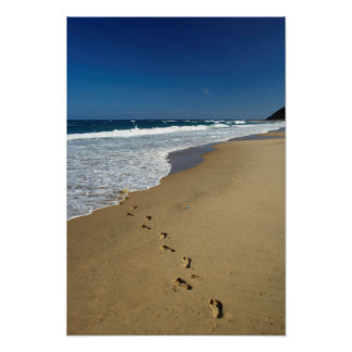 Empreintes de pas sur la plage, Mabibi, Thongaland Posters